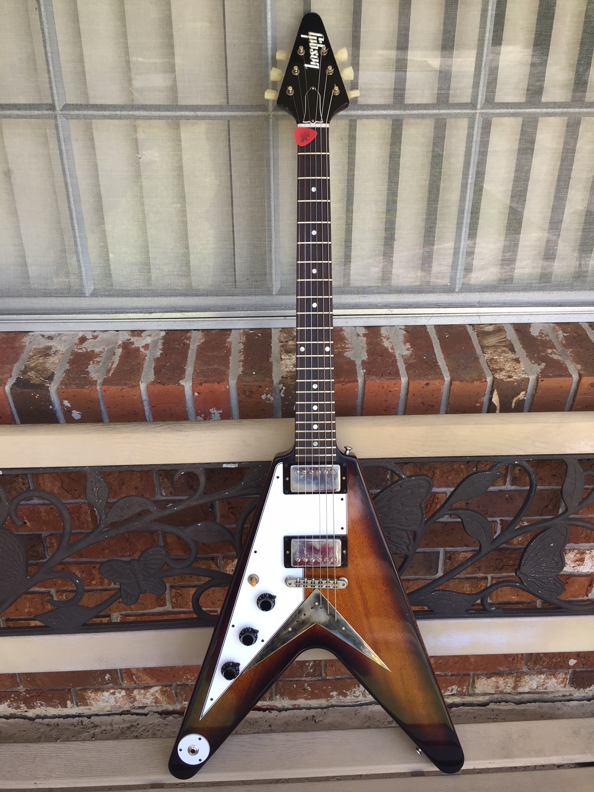 Lefty Vintage Guitars 1967 Gibson Sg Wiring Harness 2018 Custom Shop 59 Flying V Tobacco Sunburst Aged Mint With